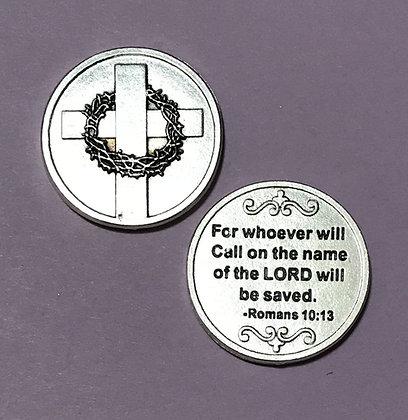 Romans 10:13 Pocket Token