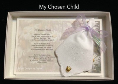 My Chosen Child Gift Hankie & Angel Pin Set (Adopted Child)