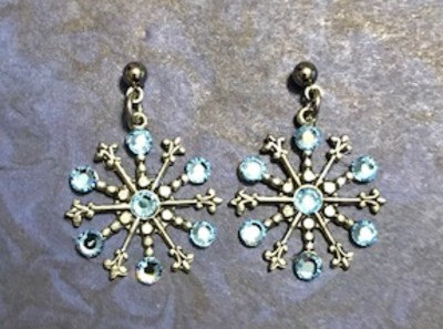 Medium Snowflake Earrings #842ELTBLUE