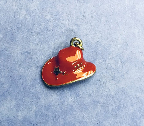 Red Hat Charm w/ Silver Star