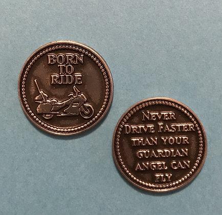 Born to Ride Biker Pocket Token