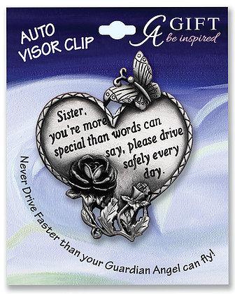 Sister Heart Visor Clip