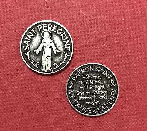 Saint Peregrine Token Patron Saint of Cancer Patients