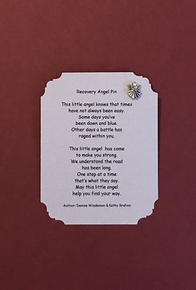 Recovery Angel Pin & Poem Card  #139