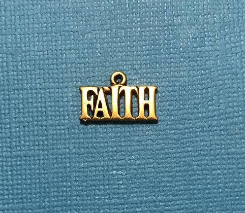 Gold Faith Charm