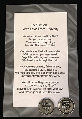 To Our ***Son with Love From Heaven Token Set