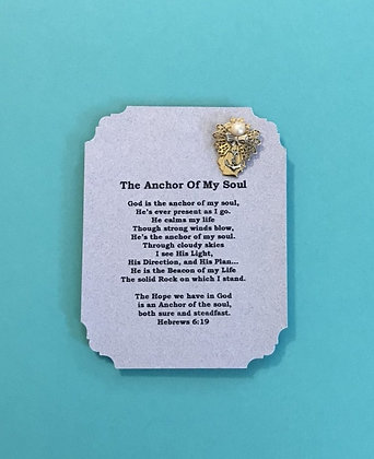 Anchor of My Soul Angel Pin & Poem Set