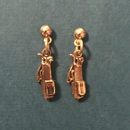Small Golf Bag Earrings