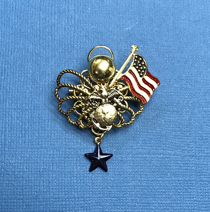 Marines Blue Star Mother's Angel Pin #786