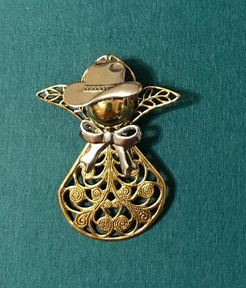 Cowboy/Cowgirl Angel Pin #370
