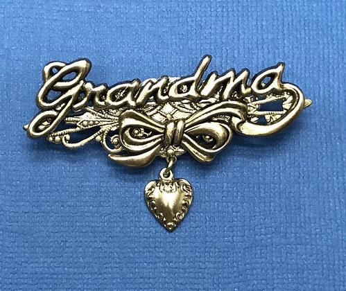 Grandma Pin with Heart #906