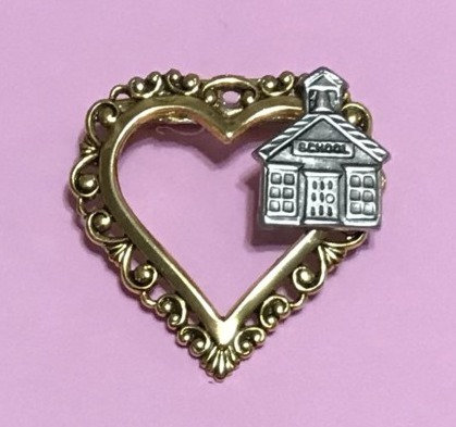 Heart School Pin