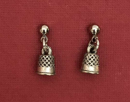 Thimble Pierced Earrings