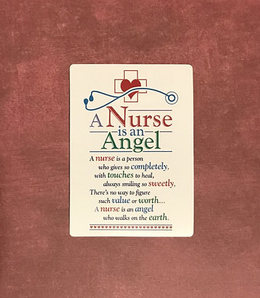 A Nurse is an Angel Poem Card