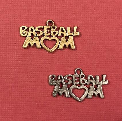Baseball Mom Charm