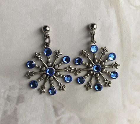 Medium Snowflake Earrings #842ESAPPHIRE