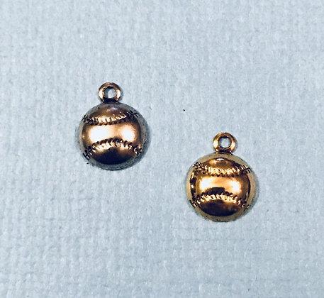 Tiny Baseball/Softball Charm