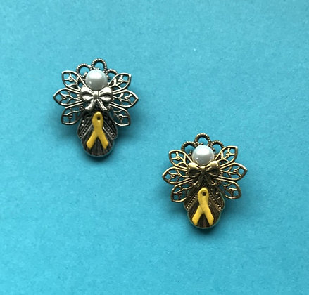 Yellow Ribbon Angel Pin #136YR