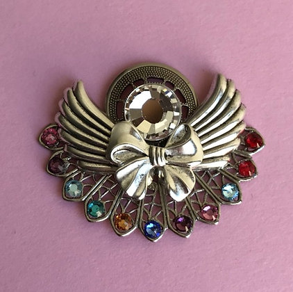Birthstone Angel pin  (11stones)  #212