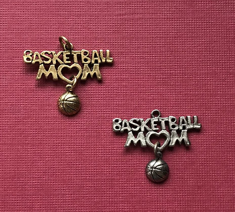 Basketball Mom Charm w/Ball