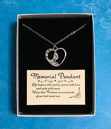 Memorial Pendant, Memorial Tear, Memorial Necklace
