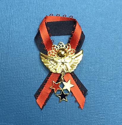 Patriotic Stars Angel Pin