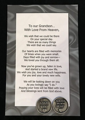 To Our***Grandson  with Love From Heaven Token Set