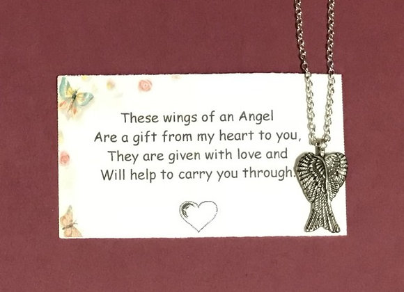 Angel Wing Pendant With Gift Card