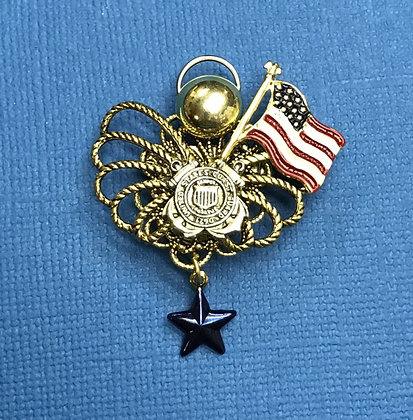 Coast Guard Blue Star Mother's Angel Pin #785