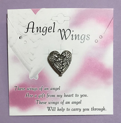 Angel Wingsl Pin With Card