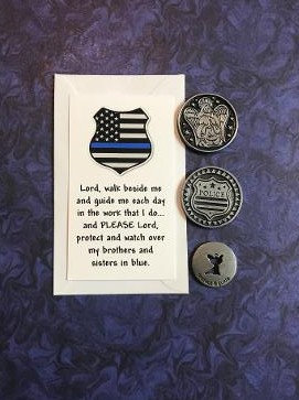 Police Officer's Prayer Token Set