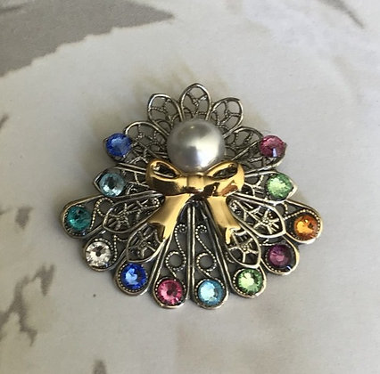 Birthstone Angel Pin (8 stones on skirt #242
