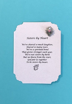 Sisters By Heart Angel Pin Set (a136PK heart)