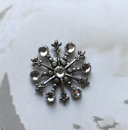 Medium Snowflake Pin #842CLEAR