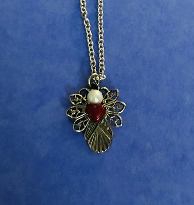Guardian Angel Necklace #136N REDHEART