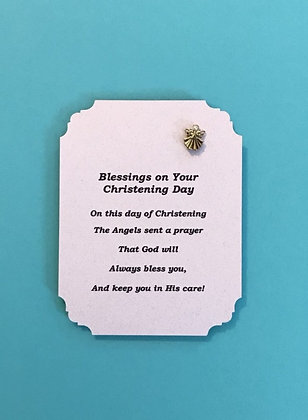 Blessings on Your Christening Day Angel Pin Set #139