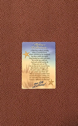 Making a Difference Poem Card