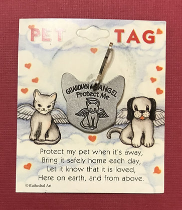 Guardian Angel Kitty Tag