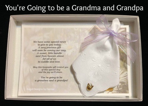 You are Going to be a Grandma and/or Grandpa Gift Set