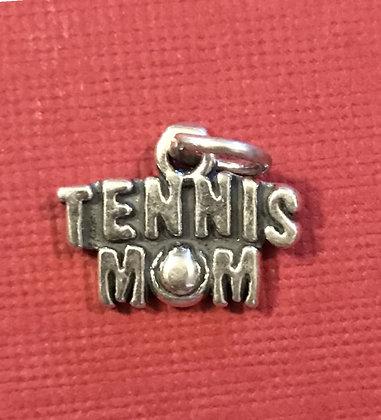 Sterling Silver Tennis Mom Charm