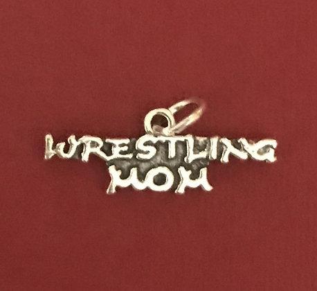 Wrestling Mom Sterling Silver Charm