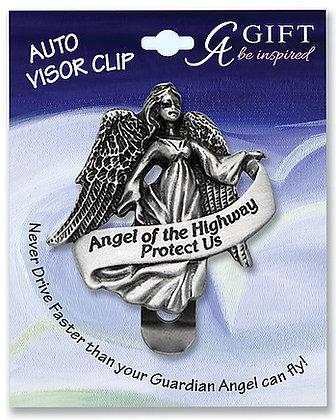 Angel Of the Highway Visor Clip