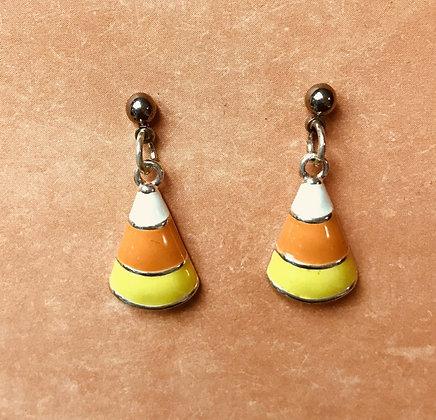 Candy Corn Dangle Pierced Earrings