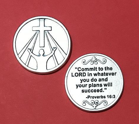 Proverbs 16:3 Pocket Token