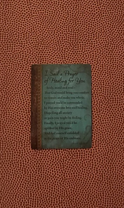 I Said a Prayer of Healing for You Poem Card