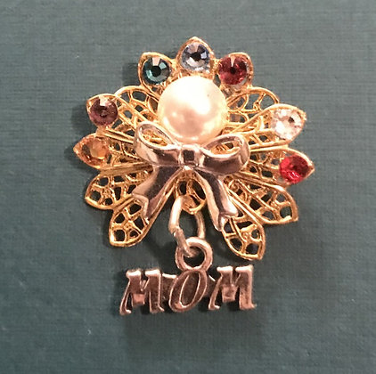 Mom Birthstone Angel pin  (11 stones)