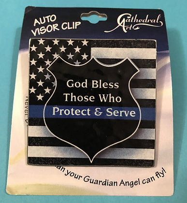 Protect and Serve Visor Clip