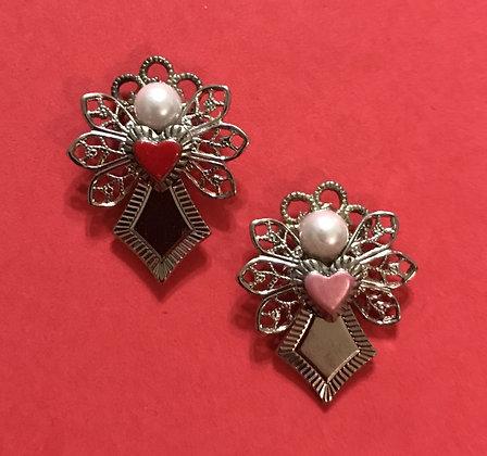 Small Heart Angel Pin #116PV