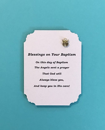 Blessings on Your Baptism Angel Pin Set #139