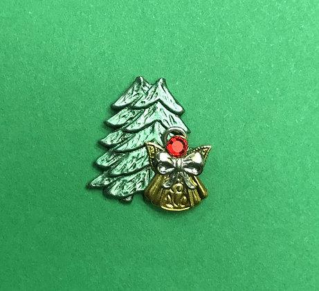 Christmas Tree Angel Pin